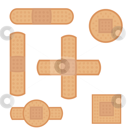 Strips stock vector clipart, Strips of different shapes and sizes by Alejandro Lozano campa?