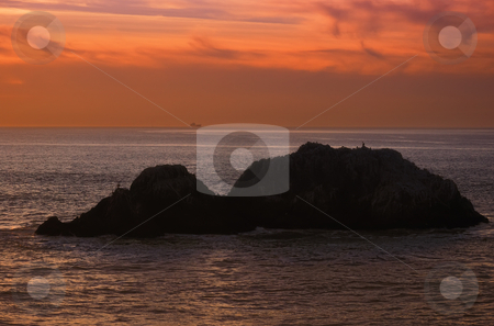 California twilight stock photo, Twilight on Pacific coast in California near San Francisco. by Ivan Paunovic