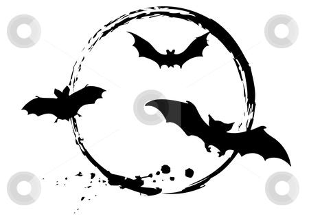 Halloween bats stock vector clipart, Grungy halloween bats, vector by Beata Kraus