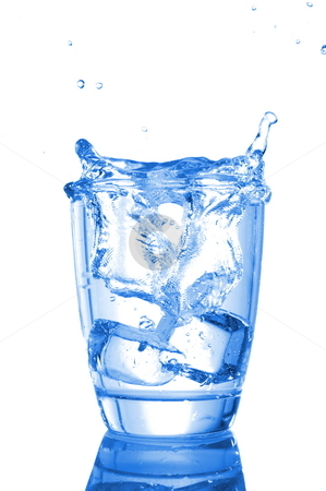 Water beverage stock photo, Glass of water beverage showing food concept by Gunnar Pippel