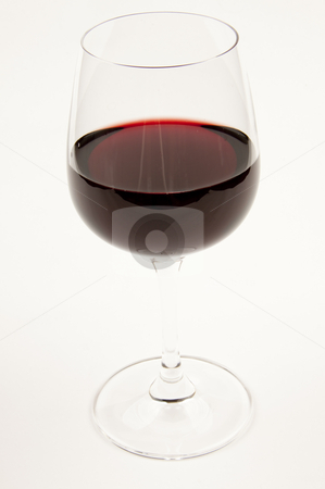 Wineglass stock photo, Wine glass with red wine by Oliver Lenz