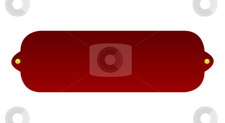 Blank red street sign stock photo, Blank red street sign isolated on white background. by Martin Crowdy