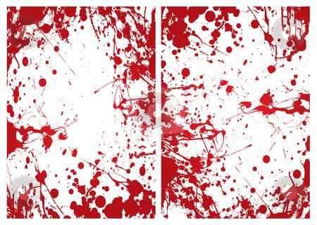 Blood splat frame stock vector clipart, Red grunge ink splat blood border or frame background by Michael Travers