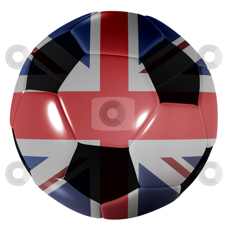 Football great britain stock photo, Traditional black and white soccer ball or football great britain by Michael Travers