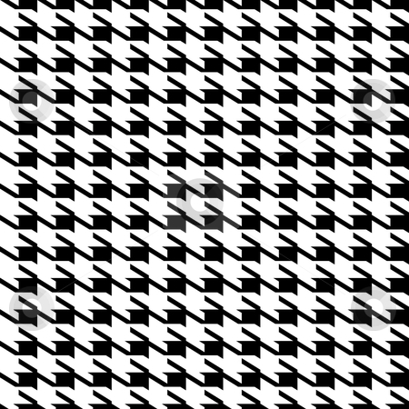 Houndstooth seamless background stock vector clipart, Black and white seamless houndstooth repeating fabric background pattern by Michael Travers