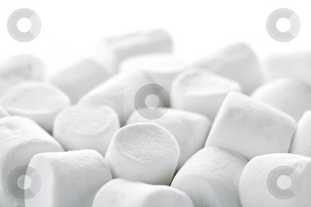 Marshmallows stock photo, Close up of many plump sweet marshmallows by Elena Elisseeva