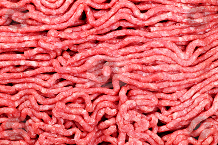 Raw ground meat stock photo, Close up of lean red raw ground meat by Elena Elisseeva