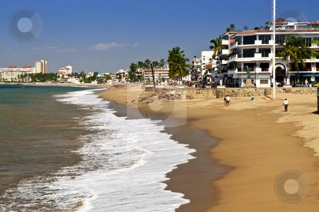 Pacific coast of Mexico stock photo, Vacation at Puerto Vallarta beach on Pacific coast of Mexico by Elena Elisseeva