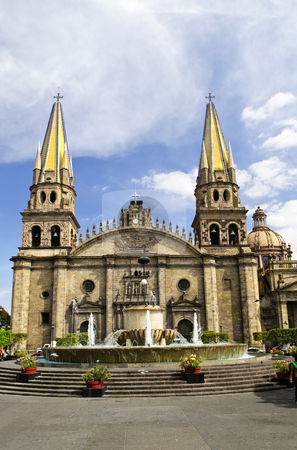 Guadalajara Cathedral in Jalisco, Mexico stock photo, Cathedral in historic center in Guadalajara, Jalisco, Mexico by Elena Elisseeva
