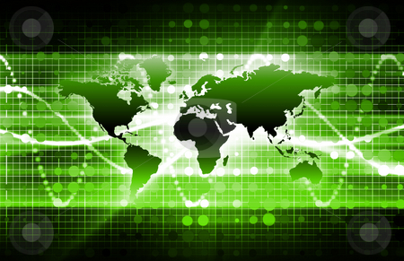 Green Business Media stock photo, Green Business Media Technology as a Background by Kheng Ho Toh