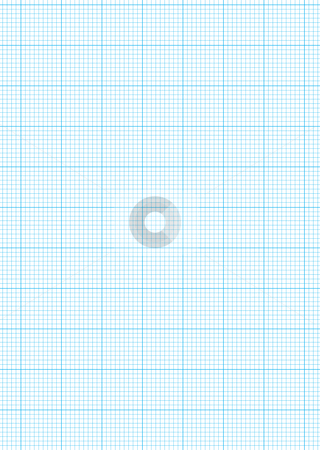 Graph paper A4 sheet stock vector clipart, Math concept with sheet of blue graph paper background by Michael Travers