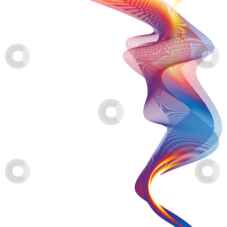Rainbow smoke background stock vector clipart, Brightly colored rainbow smoke with white background and copyspace by Michael Travers
