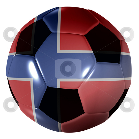Football norway flag stock photo, Traditional black and white soccer ball or football norway flag by Michael Travers