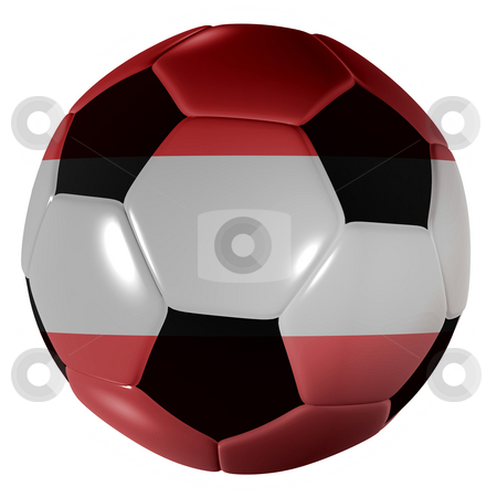 Football austrian flag stock photo, Traditional black and white soccer ball or football austrian flag by Michael Travers