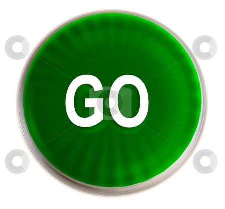 Go Sign Icon Green go button...