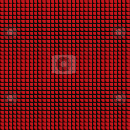 Red tile roof stock photo, Seamless red roof tile design with square background design by Michael Travers