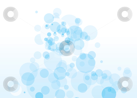 Blue bubble tumble stock vector clipart, Light blue bubble background with transparent effect and copyspace by Michael Travers