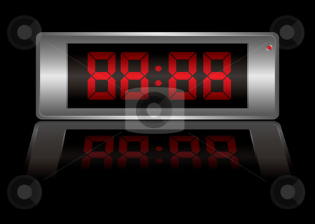 Digital alarm clock any stock vector clipart, Blank digital alarm clock that you can change to any time you want by Michael Travers
