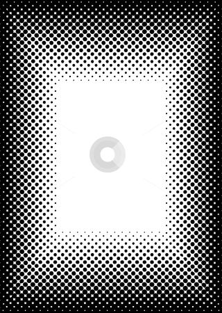 Halftone picture frame border stock vector clipart, Black halftone dot frame or border ideal background image by Michael Travers