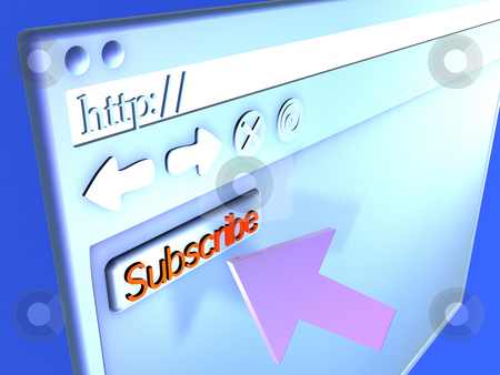 Browser Closeup - Subscribe stock photo, 3D rendered Illustration. by Michael Osterrieder