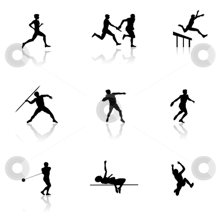 Athletics stock photo, Olympic Athletic Games in Black by Seeni Vasagams