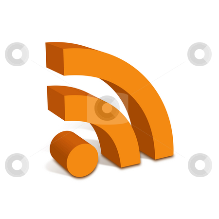 RSS Feed Icon stock photo, RSS Feed Icon - From Side with shadow by Seeni Vasagams