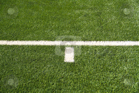 Soccer Field Lines stock photo, Closeup on white soccer field lines by Amanda Kelsey
