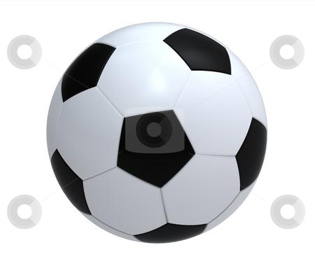 Soccer ball stock photo, Single soccer ball isolated on white background render by Borislav Marinic