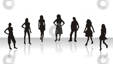 Sexy Models stock photo, Sexy Models with Shadow by Seeni Vasagams