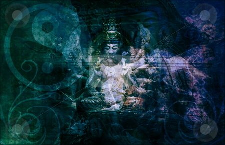 Asia stock photo, Asia Abstract Art Buddha as a Background by Kheng Ho Toh