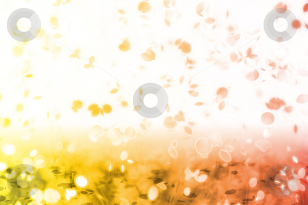 Falling Leaves stock photo, A Soft Falling Leaves Abstract Background Art by Kheng Ho Toh