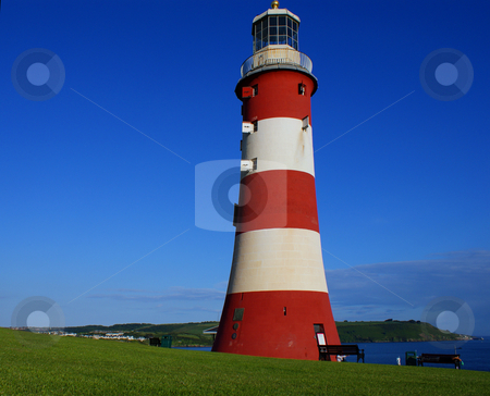 Plymouth lighthouse stock photo, Plymouth lighthouse by Marcin Jucha