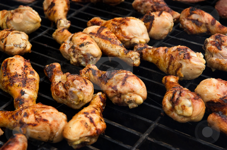 Chicken cooking on a grill stock photo, Image of chicken cooking on a grill by Greg Blomberg
