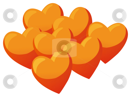 Heart stock photo, A group of hearts in a white background by Su Li