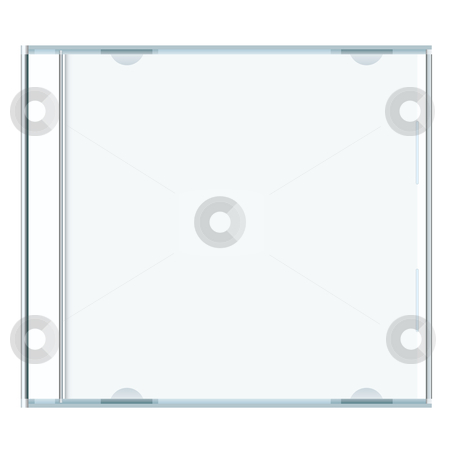 Blank cd case stock vector clipart, White blank music cd case with room to write your own text by Michael Travers