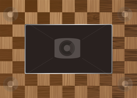 Checkered picture frame stock vector clipart, Checkered square wooden picture frame with room for your own image by Michael Travers