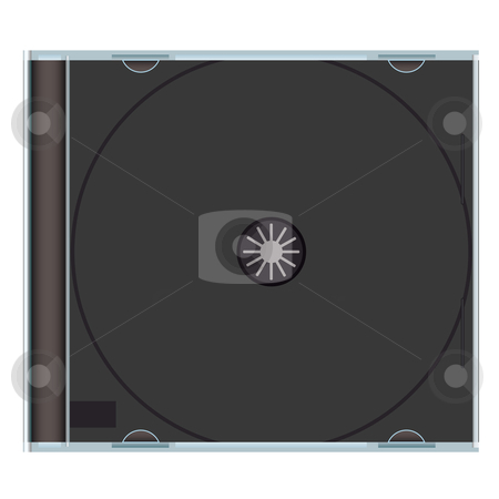Blank cd case black stock vector clipart, Clear music cd case with black plastic and copyspace by Michael Travers