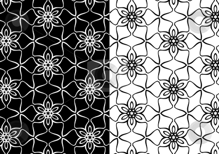 Seamless vector pattern stock vector clipart, Seamless vector pattern, wallpaper background by Beata Kraus