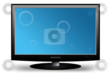 LCD TV / Monitor with Clipping Paths stock photo,  by Seeni Vasagams