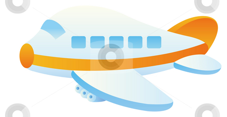 Aircraft stock photo, Cartoon aircraft in flight with a white background,cartoon by Su Li