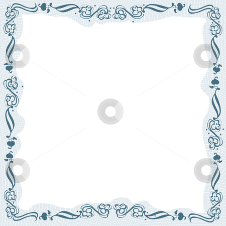 Floral border stock photo, Creative design, stylized floral frame by Richard Laschon