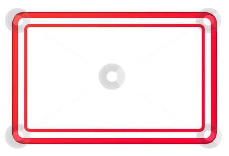 Blank red business stamp stock photo, Blank red business stamp isolated on white background with copy space. by Martin Crowdy