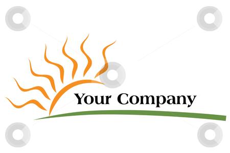 Logo Sun stock vector