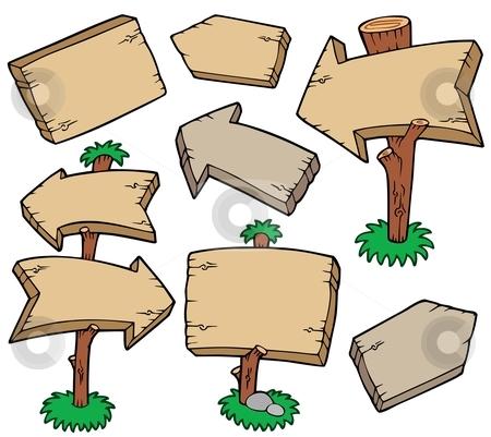 Wooden boards collection stock vector clipart, Wooden boards collection - vector illustration. by Klara Viskova