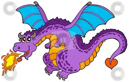 Dragon stock. Huge flying vector