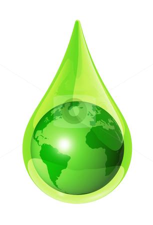 earth water drop stock photo