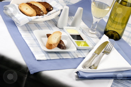 Bread stock photo, Delicious bread perfect meal companion  with butter, olive oil and balsamic vinegar by Raul Taborda