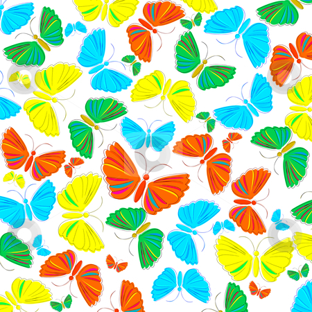 Butterfly stock vector clipart, Seamless background with butterfly by Richard Laschon