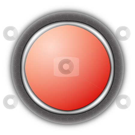 Empty button stock photo, Empty button isolated on white with copyspace by Gunnar Pippel