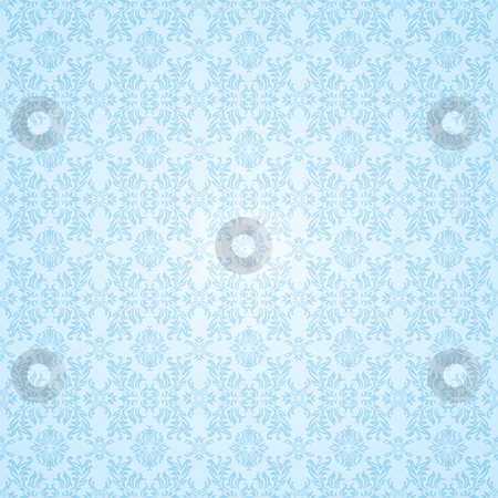 Gothic blue seamless wallpaper stock vector clipart, Pale Blue subtle seamless background wallpaper pattern by Michael Travers
